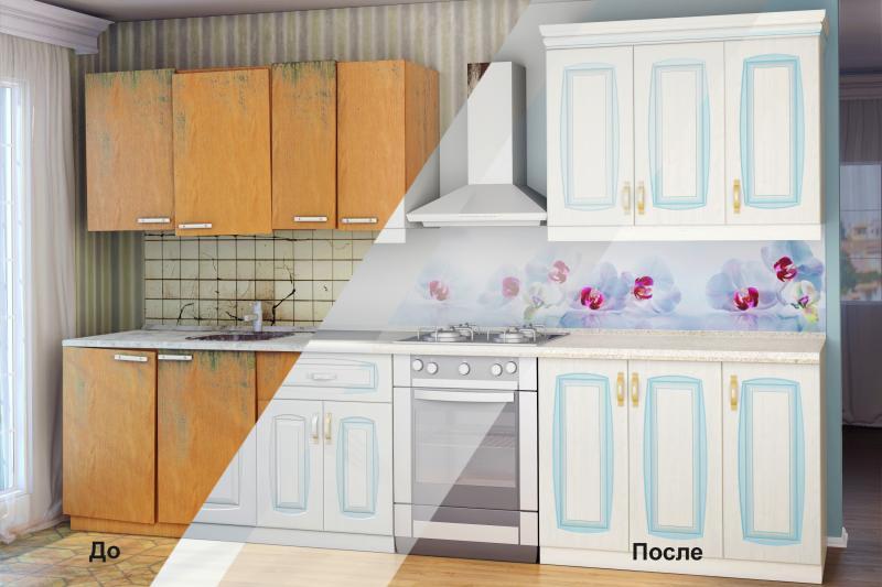 Замена фасадов кухни на новые